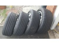 Mazda mx5 mk2 2001 to 2005 genuine alloy wheels and new tyres