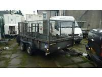 ifor willams gd105g caged rampTailgate trailer no vat