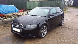 07 AUDI A3 S LINE 8P 3DR HATCHBACK 1.8 TFSI MANUAL BLACK LY9B 03-12 BREAKING FOR PARTS SPARES