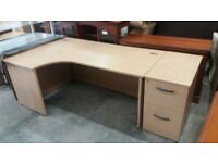 Large office desk & filling cabinet