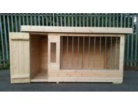 Brand new Deluxe extra large dog kennel and run with galvanised bars RRP £1100