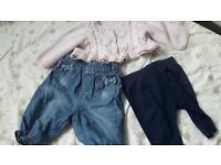 Baby girls clothes from birth to 6 months old £0,50 -£1 each