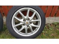 "PORSCHE CAYENNE 19"" ORIGINAL WHEELS AND TYRES - GENUINE PORSCHE"