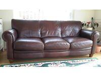 Large three seater leather sofa