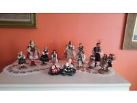 Hand made traditional polish dolls collection - from 50s 60s 70s