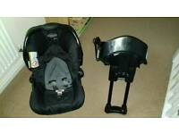 Graco baby car seat & car seat base