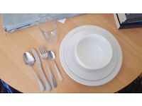 Various sets of crockery and pans - ideal for students