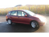 2002(02)HONDA CIVIC 1.6 SE EXECUTIVE AUTOMATIC MET RED,LEATHER SEATS,