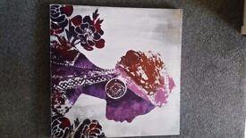 Purple african canvas