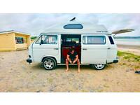 VW Transporter T25 Hightop Campervan '86 1.9L- Modern Interior MOT (Aug '18) **Power Steering**