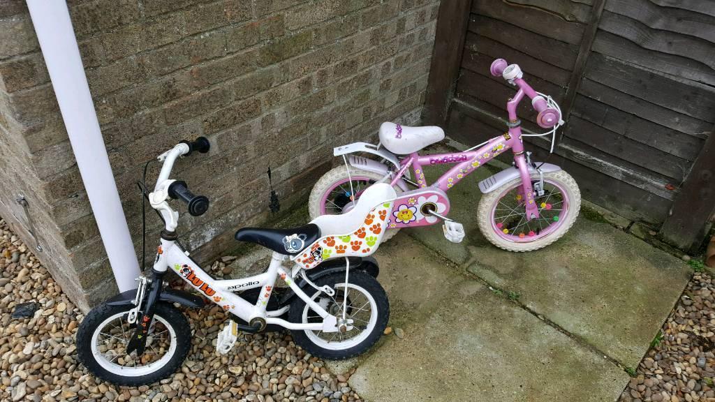 Kids push bikes
