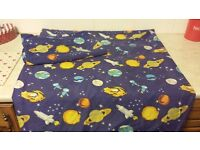 Kids space single duvet cover