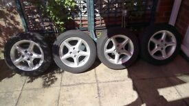 4x100. 14inch 6j alloy wheels bargain