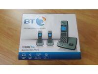 BT 2000 Trio Digial Cordless Phones