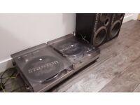 Complete Vinyl Setup (Jamo 120 Speakers x 2, Stanton Players x 2, Mixer + AMP)