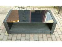 Rattan effect coffee tables