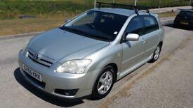 Toyota Corolla D4D, silver five door hatchback