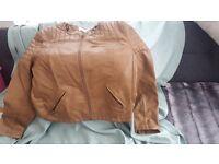 Linea tan leather jacket