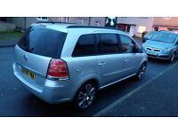 Vauxhall Zafira, 7 seater, 1.6 petrol, 2006, mot Dec 2016. £1600 ono
