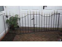 double cast iron garden gate