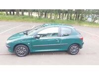 2001 Peugeot 206 1.1 Petrol 1 Year MOT Full Service History Good Condition  Cards Accepted 