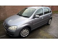 53 Plate Vauxhall Corsa Design 1.2, 4 door, new mot, air con, electric window and mirrors