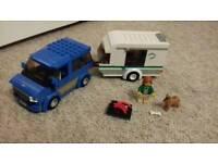 Lego van and caravan
