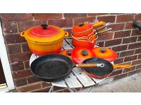 Set of cast iron Pans £10