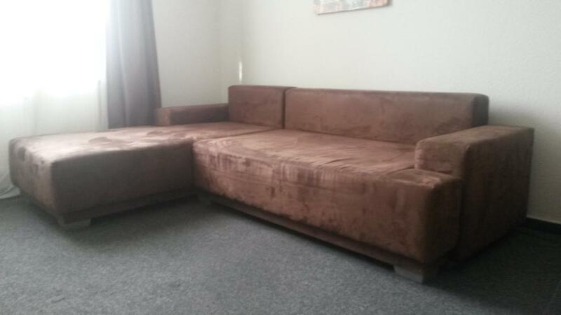 couch sofa ecksofa mit schlaffunktion ohne kissen in bielefeld heepen ebay. Black Bedroom Furniture Sets. Home Design Ideas