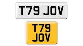 Affordable, not expensive T79 JOV private cherished personal personalised registration plate number