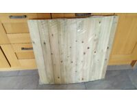 Curved Wooden Shiplap Gate / Roof / Canopy / Bridge / Panel