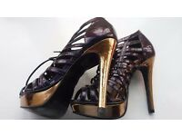 Womens size 4/36 shoes - 4 3/4 inch heel