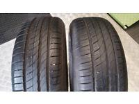 185 55 15 2 x tyres Pirelli Cinturato P1 Verde