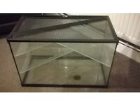 glass hamster tank suitable for more than 1 hamsters rats etc