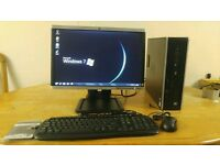 """HP Business Small Form Desktop PC Tower HP 21"""" Wide"""