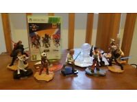 Disney Infinity xbox 360 game, stand and star wars figures