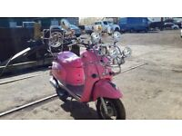 For Sale Pink Mod scooter - 12 months MOT -