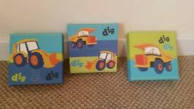 Next canvas little diggers