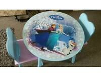 Disney frozen table and chair