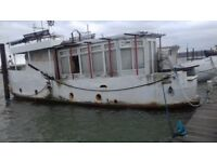 HOUSEBOAT Coming up for SALE soon There is water, Electricity & BT pontoon access