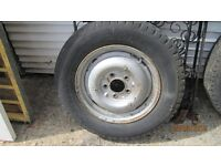 one fx4 taxi wheel and tyre fit 1959-1988 cab, (not fairway) bromley kent