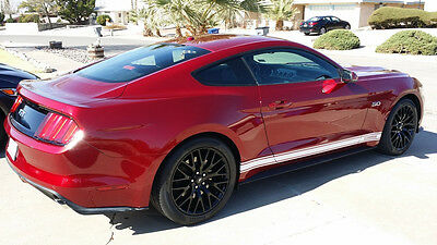 YOUR TEXT / LOGO 2015 Mustang #1 Rocker stripes Stripe Graphics Set Decals