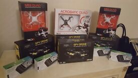 Remote control drones power bank and speakers ect