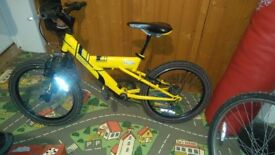 Bicycle, 20inch wheel childrens yellow raleigh bicycle
