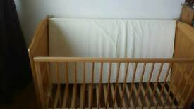 Mothercare baby cot bed convertible