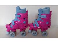 Pink Adjustable Roller Boots