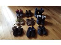 different sizes kids shoes