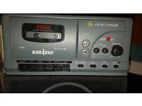 Kids karaoke machine with microphone and demo tape