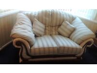 Two matching sofas - one standard 2-seater and one large 2-seater