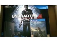 PS4 Slim Unchartered 4 and Final Fantasy XV